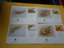 Congo 1987 Wwf Crocodile 4 FDC First Day Covers