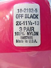 3 Prs.Vtg.Lane Bryant.Stay Up.Thigh High Stockings.Off Black.New.2X 11-13