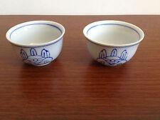 Pair of Porcelain Miniature Blue & White Cups