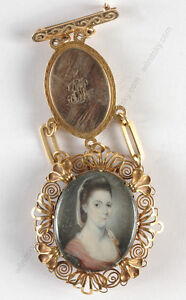 "Jeremiah Meyer ""Gold chatelaine with portrait miniature"", ca.1780"