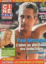 CINE REVUE (belge) 2008 N°40 paul newman britney spears laetitia hallyday