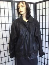 MINT BLACK LEATHER JACKET COAT WITH DESIGN WOMEN WOMAN SIZE LARGE OR 14