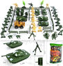 70 pcs Military Playset Toy Soldier Army Men Figures Tanks Vehicles Accessories
