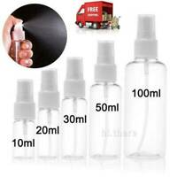 10-100ML Clear Transparent Plastic Perfume Atomizer Empty Small Spray Bottle