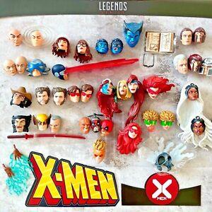 Marvel Legends X-men Rogue Beast Logan Professor X Magneto Deadpool head UPICK