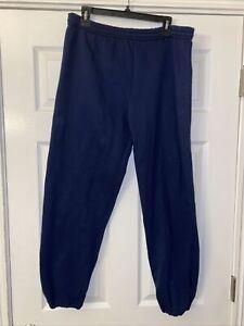 Jerzees Activewear Blue Sweatpants Men's Large