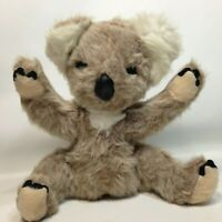 "Knickerbocker Koala Bear Plush Animals of Distinction Furry Grey Vintage 12"" Toy"