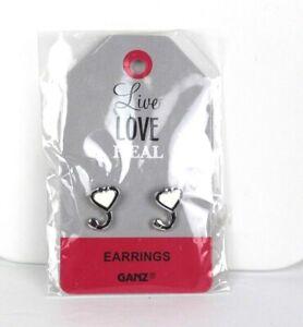 Stethoscope heart earrings Ganz nurse doctor live love heal surgical steel D4B