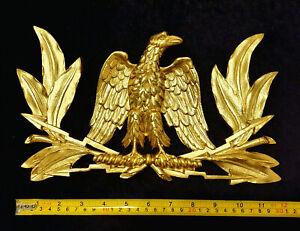 LARGE ROMAN EMPIRE  EAGLE DECORATIVE MOULDING ANTIQUE GOLD GILT RESIN WALL MOUNT