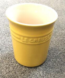 Le Creuset Yellow Utensil Jar. VGC