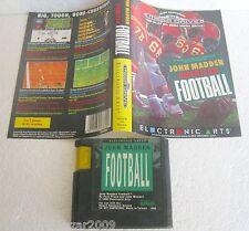 JOHN MADDEN AMERICAN FOOTBALL (1990) SEGA MEGA DRIVE SYSTEM VINTAGE