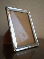 CADRE PHOTO VERRE MIROIR ARGENTE DESIGN XX°s VINTAGE SILVER GLASS FRAME 13x18