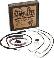 16 Burly Brand Cable//Brake Line Kit for Ape Hangers for Harley Davidson 2004-06 XL