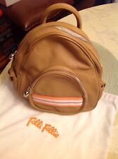 Folli- Follie Camel Butter Soft Leather Backpack Bag NWOT-HTF HotTrend Mint 🌸👜