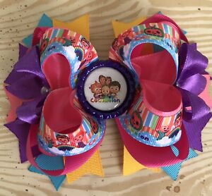 Large CocoMelon Hair Bow With Free Shipping