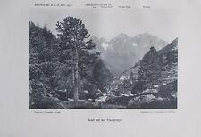 Scarl mit der Pisocgruppe - Originaldruck aus 1910 Foto print