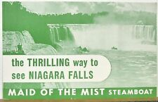 1950's Niagara Falls Maid of the Mist Steamboat vintage travel brochure b