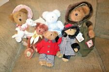 """Boyds Bears Lot Of 6 New With Tags, 1 Steiff """"Maki"""" Hedgehog New With Tags"""