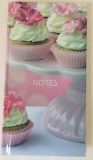 Smart Cupcake Hardback Lined Notebook, Jotter, School Home Office, 8.5 x 16 cm