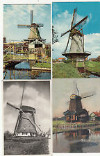 Lot 4 cartes postales anciennes PAYS-BAS HOLLANDE NEDERLAND MOLEN MOULIN 1
