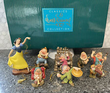 WDCC Snow White & the Seven Dwarfs ORNAMENT SET MIB with COA
