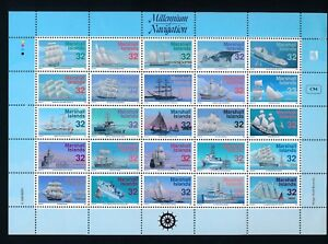 """Marshall Islands """"MILLENNIUM OF NAVIGATION (1996)"""" #605; MH IN SELVAGE ONLY"""