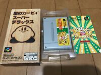 Kirby Super Star Japan Super Famicom SNES BOX and Manual