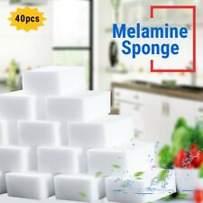 40pcs Magic Melamine Sponge White Eraser Sponge Foam Pads For Cleaning Kitchen