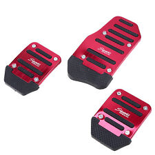 3Pcs Racing Sports Manual Car Non-Slip Clutch Braker Foot Pedals Covers Alloy