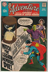 "Adventure Comics #378 DC Comics 1969 ""Starring The Legion of Superheroes"""