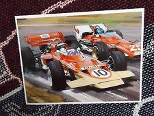 F1 POSTCARD - 1970 DUTCH GRAND PRIX - JOCHEN RINDT LOTUS - MICHAEL TURNER