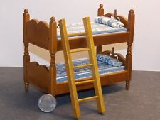 Dollhouse Miniature Bunk Bed Beds Walnut 1:12 inch scale Y35 Dollys Gallery