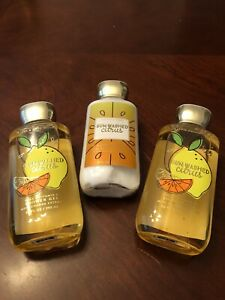 Bath and Body Works SUN-WASHED CITRUS Shower Gel x 2 and Body Lotion, New