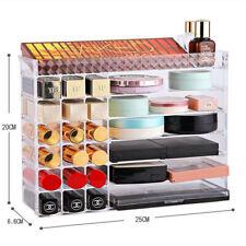Makeup Cosmetics Jewelry Organizer Clear Acrylic Drawers Display Box Storage