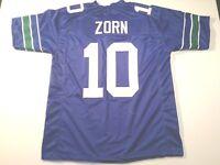 UNSIGNED CUSTOM Sewn Stitched Jim Zorn Blue Jersey - M, L, XL, 2XL