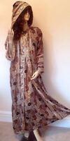 New Black Gold Moroccan Hooded Party Abaya Jilbab Long Silky Soft Dress S M L XL