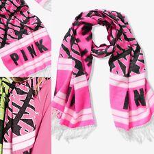 Victoria's Secret Pink Oversized Blanket Scarf Neon Pink/Black Large L $26.95