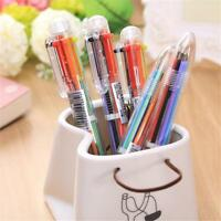 Colors 6in1 Ballpoint Pen Multi-color Ball Point Pens School Office Supplies New