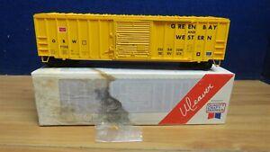 WEAVER O SCALE 2 RAIL 50' SLIDING DOOR BOXCAR GREEN BAY WESTERN KADEE 601503
