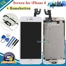 For iPhone 6 LCD Digitizer Touch Screen Home Button Camera White Replacement UK