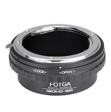 Nikon G AFS Lens to M4/3 Adapter For EM10 EM5 EM1 EPL7 GF7 GF6 Olympus Panasonic