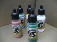 VALLEJO MODEL AIR ACRYLIC AIRBRUSH PAINTS PICK  ANY 5  X 17ml Bottles