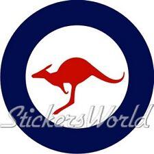 "Australia Air Force RAAF Aircraft Roundel 100mm (4"") Vinyl Sticker, Decal"