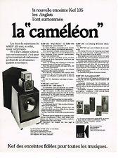 PUBLICITE ADVERTISING 064  1978  KEF   enceintes hi-fi LA CAMELEON