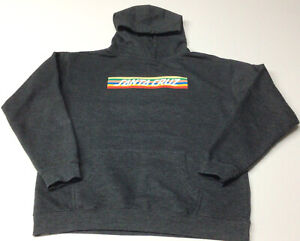 Santa Cruz Boys Charcoal XL Pullover Hoodie Preowned