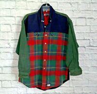Polo Ralph Lauren  Flannel Shirt Jacket sz L Red Plaid  Button Down