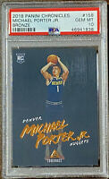 Michael Porter Jr 2018 Panini Chronicles Luminance Bronze #158 RC PSA 10 POP 1