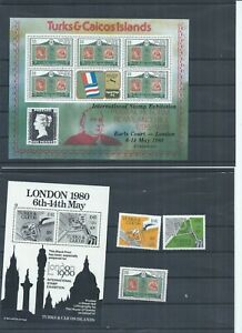 Turks & Caicos Islands stamps.  1980 Rowland Hill London 1980 Stamp Exhib (P975)