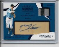 2020 Panini Immaculate Donnie Walton Autograph Patch Rookie Card #22/25 Mariners