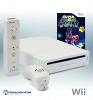 Nintendo Wii - Konsole #weiß + Super Mario Galaxy + Remote + Zub.
